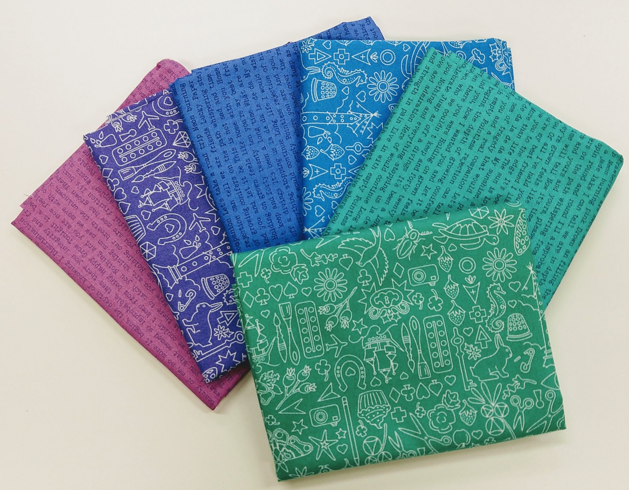 Alison Glass Sun Prints Cool - Fat Quarter Pack 6