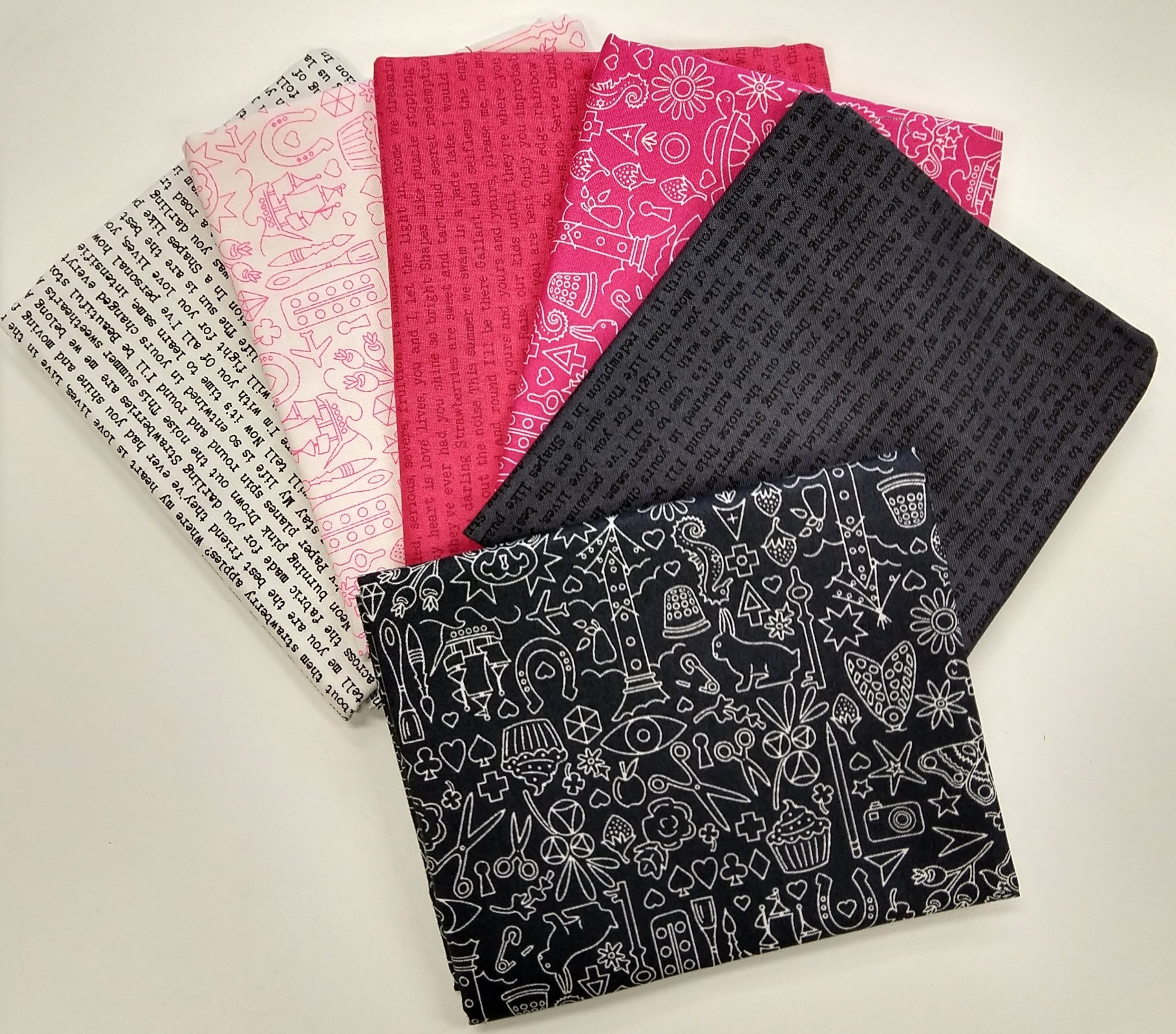 Alison Glass Sun Prints Punk - Fat Quarter Pack 6