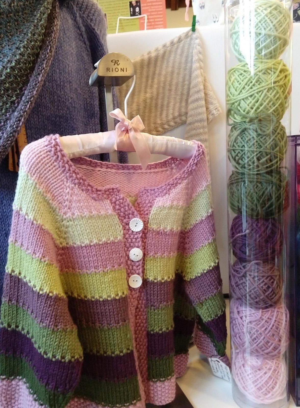 Tulip Sweater Kit, Purple Green Small