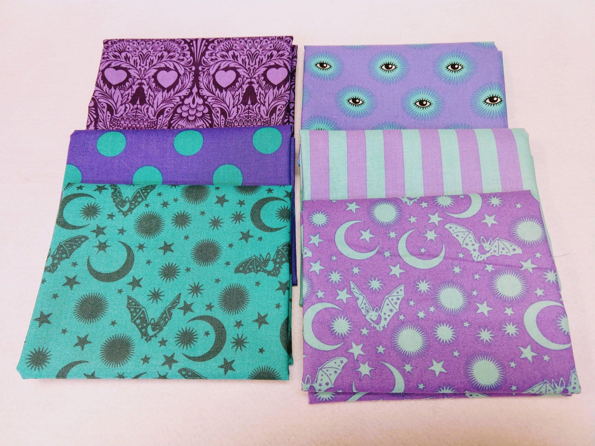 De La Luna Purple 6 Fat Quarter pack