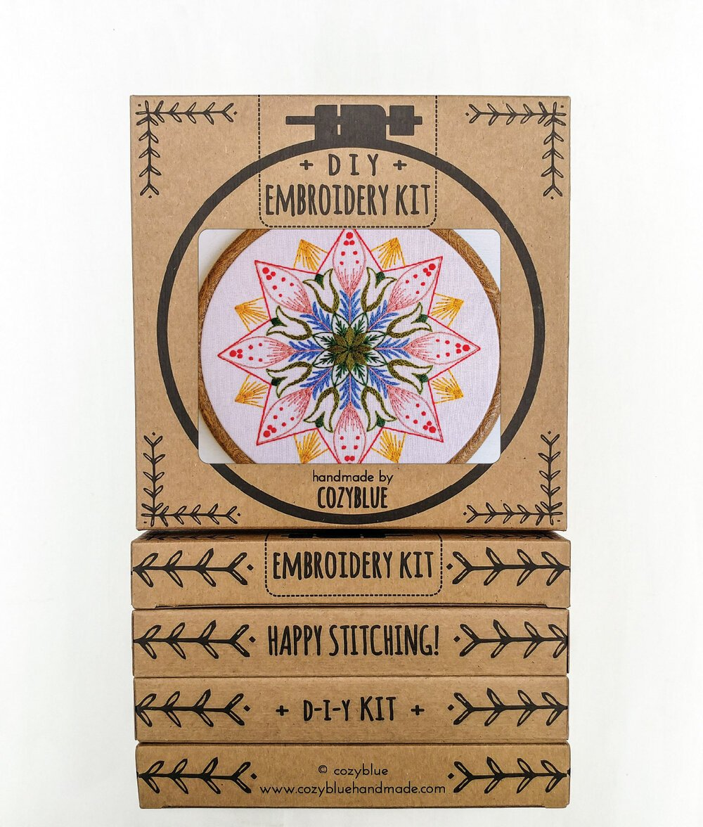 Embroidery Kit- Market Day