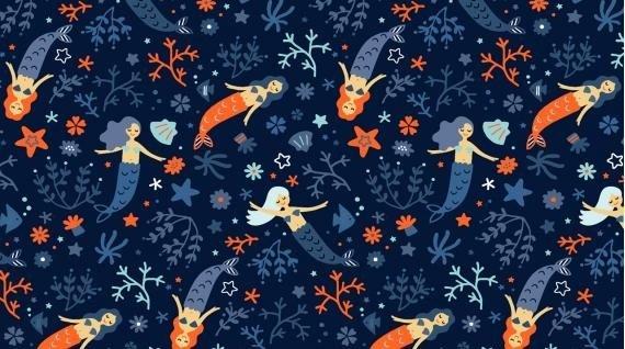 Mermaid Dance Off - Indigo by Dear Stella