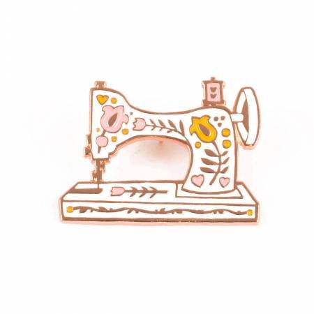 Enamel Pin, Vintage Sewing Machine