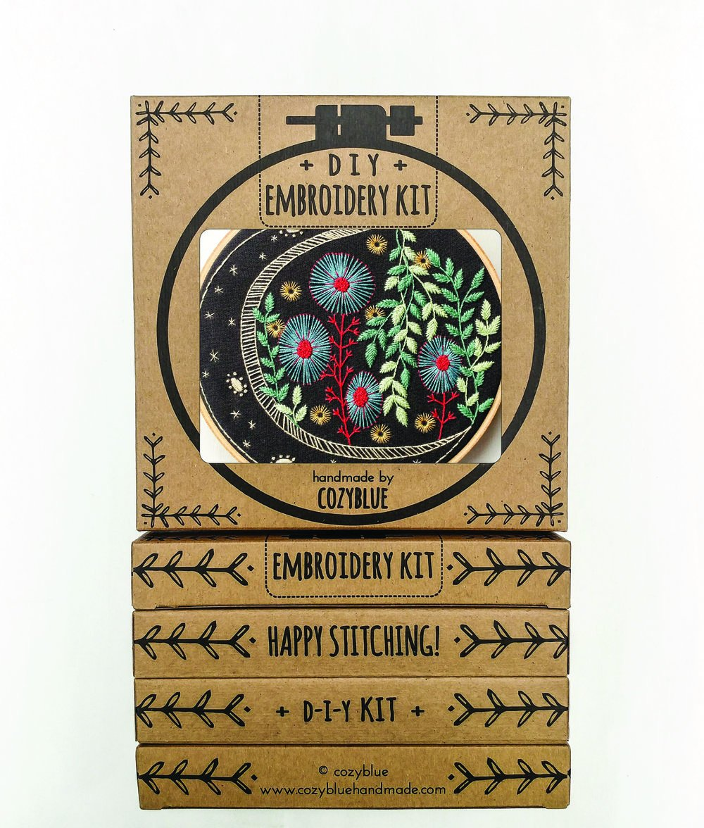 Embroidery Kit- Night Garden