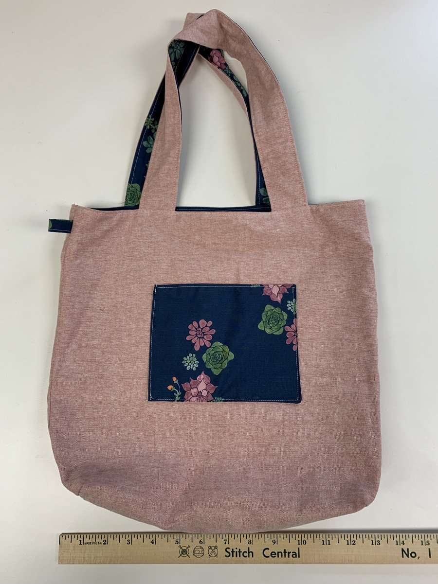 Pink + Succulents Tote