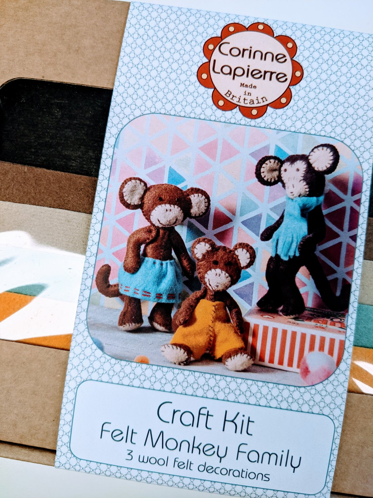 Monkey Family Felt Kit by Corinne Lapierre