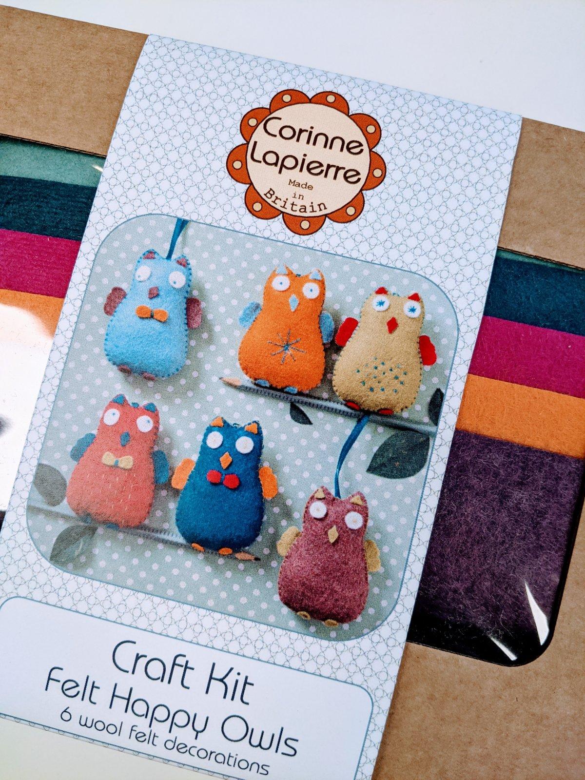 Happy Owls Felt Kit by Corinne Lapierre