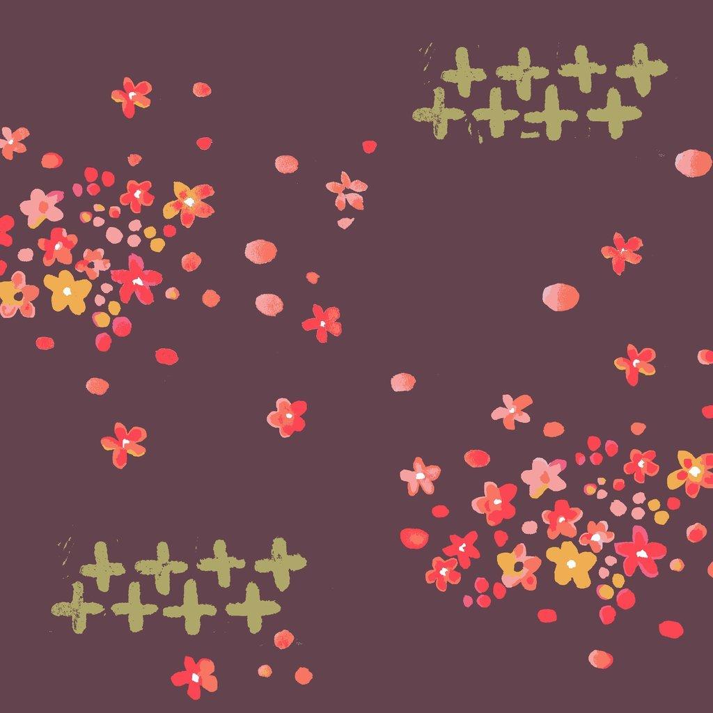 Scattered Petals - Organic Poplin