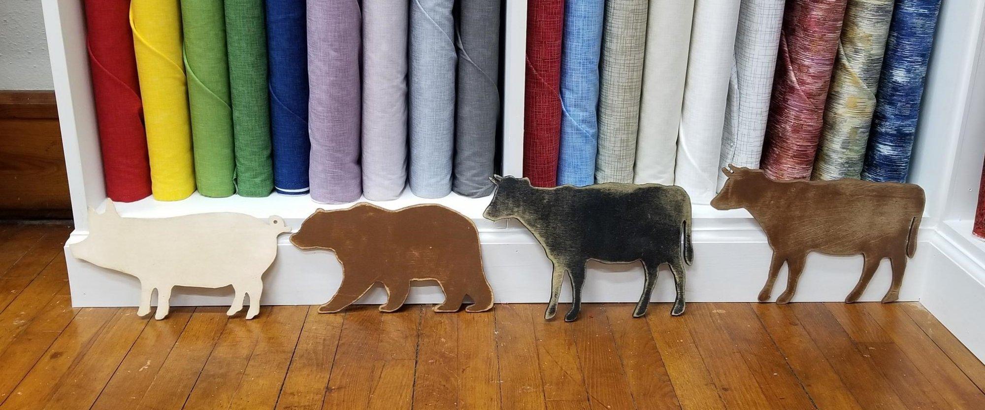 Wooden Animal Cutouts - Large