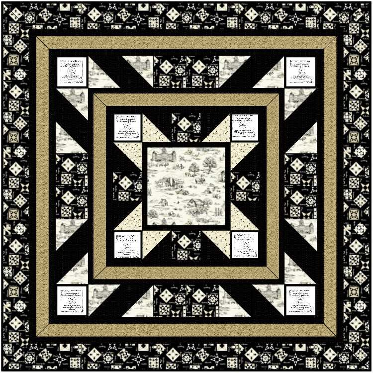Pieceful Borders by Wonky Tomte Designs (AISH 2020 Quilt Kit)