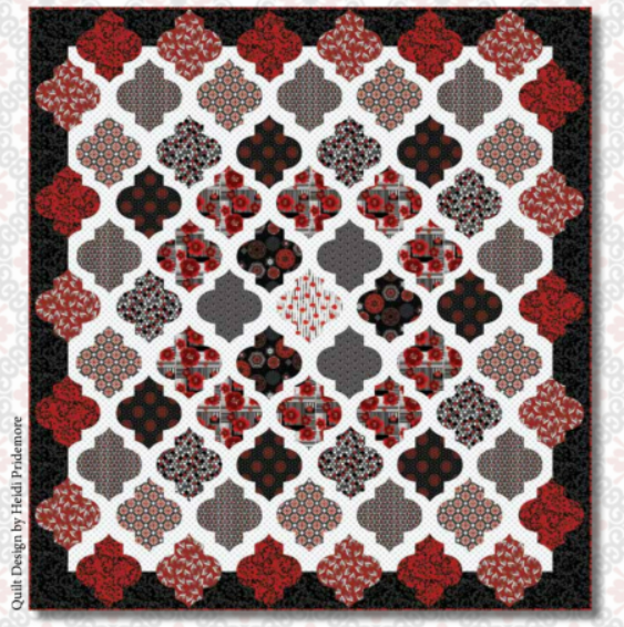 Moroccan Red Applique Quilt Kit