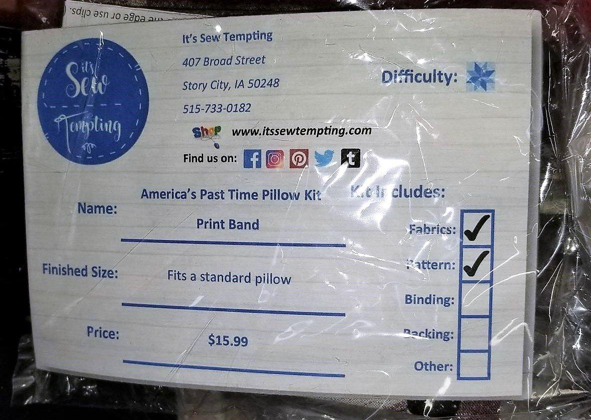 America's Past Time Pillowcase Kit - Print Band