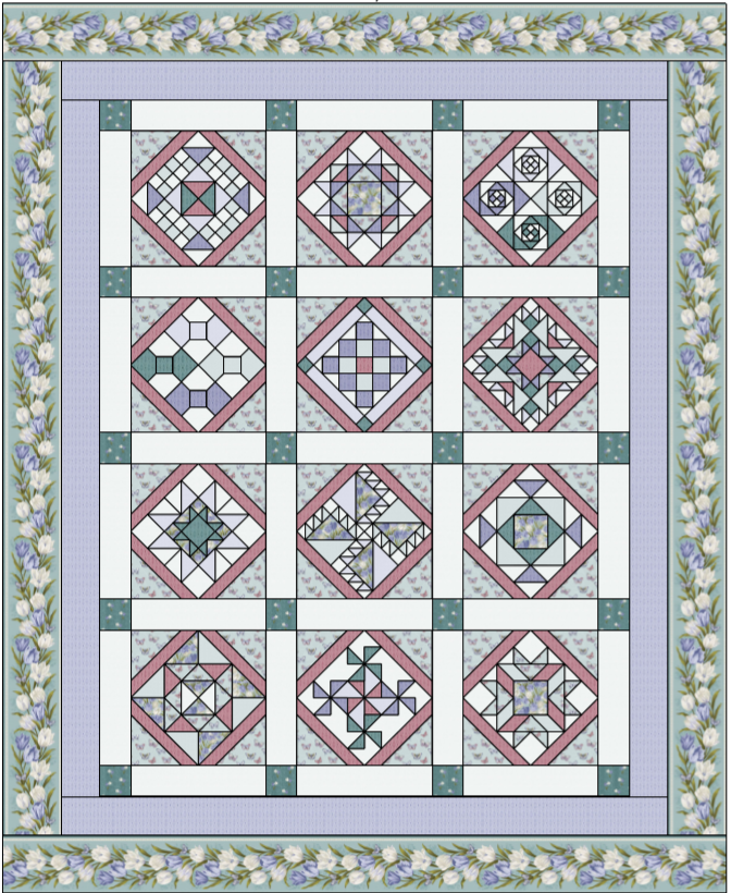 Marti Michell's Quilt Sampler Block of the Month - Purple