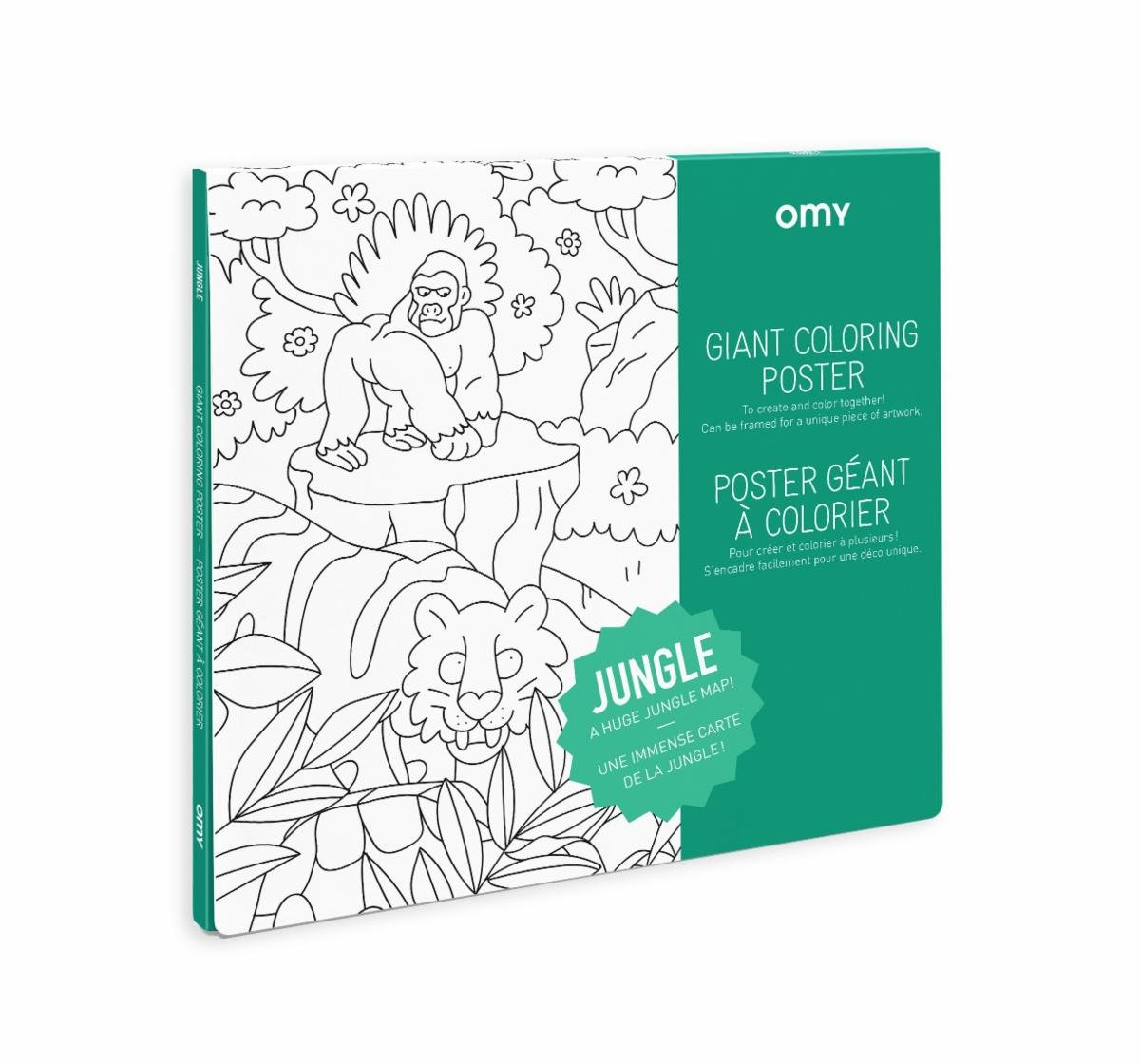 OMY Giant Jungle Coloring Poster
