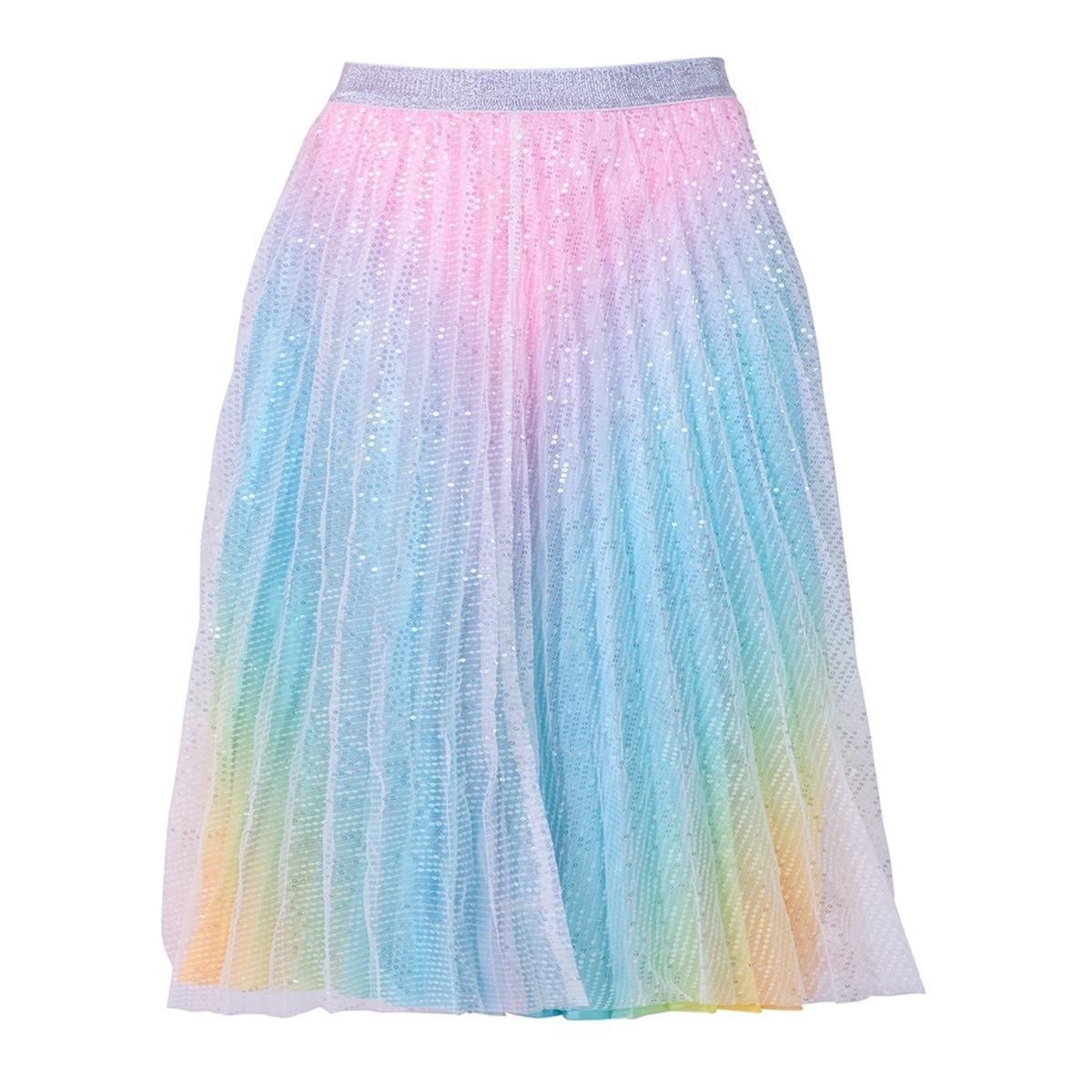Sparkly Rainbow Midi Skirt