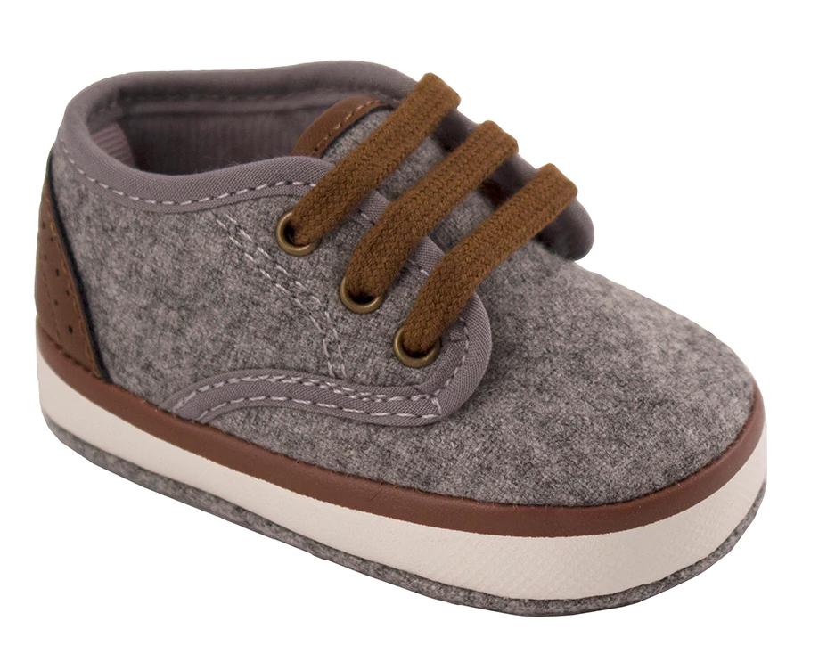 Gray Faux Wool Low Top Sneaker (Waddle)
