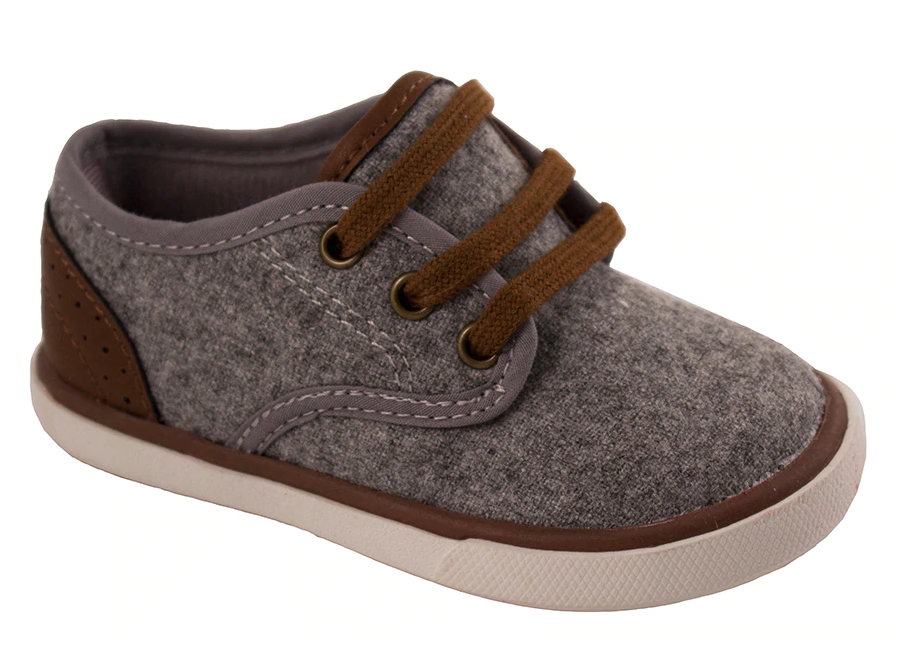 Gray Faux Wool Low Top Sneaker (Walker)