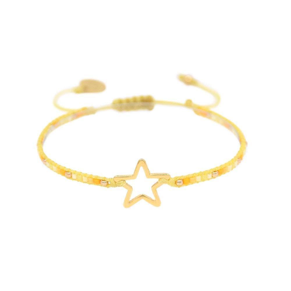 Yellow Melted Star Bracelet