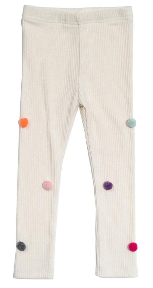 Petite Hailey Pompom Leggings