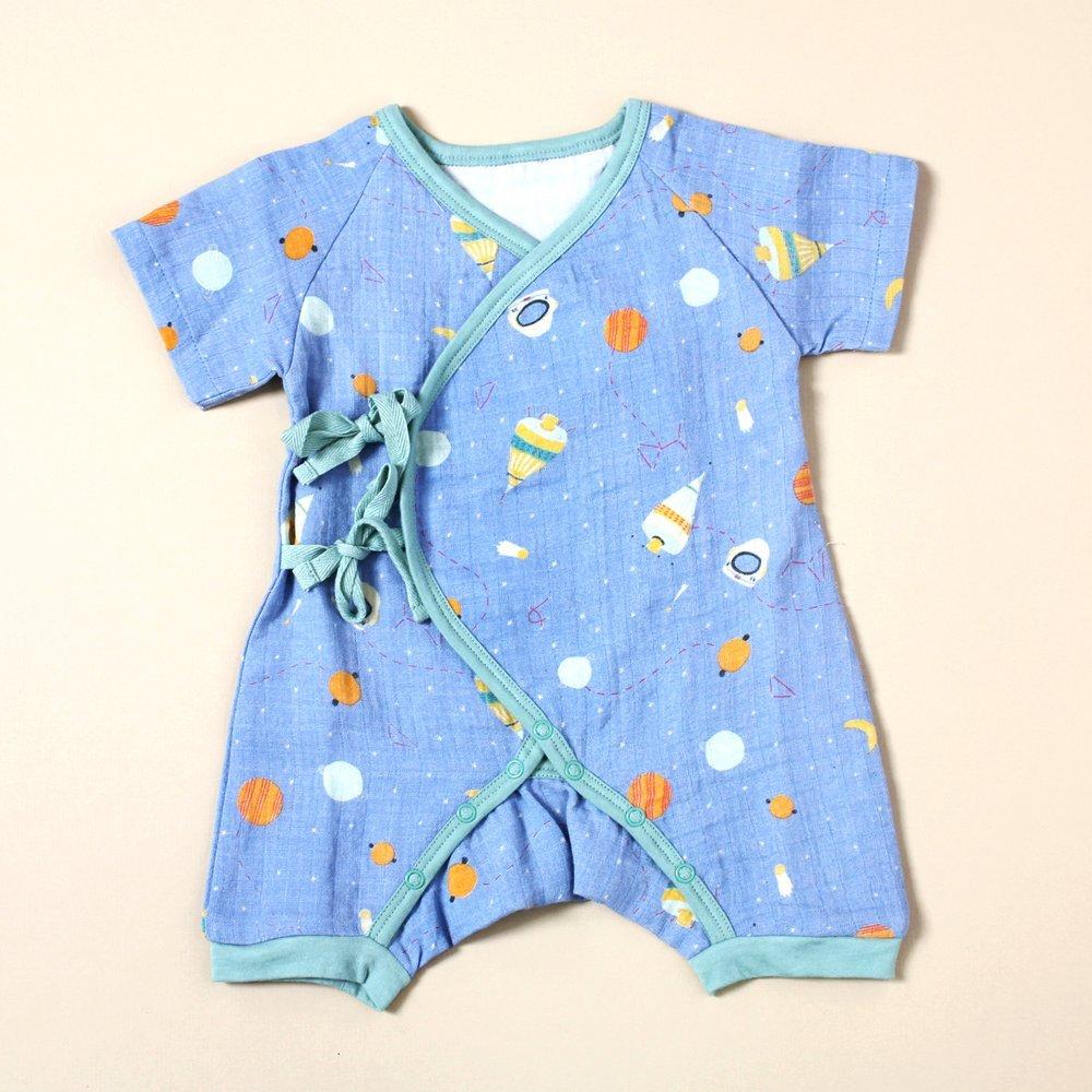 Space Dream Kimono Short Sleeve Romper