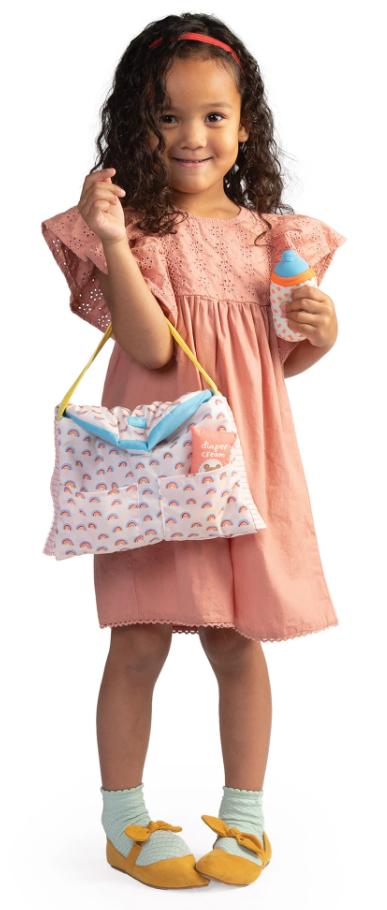 Baby Stella Rainbow Diaper Bag Set