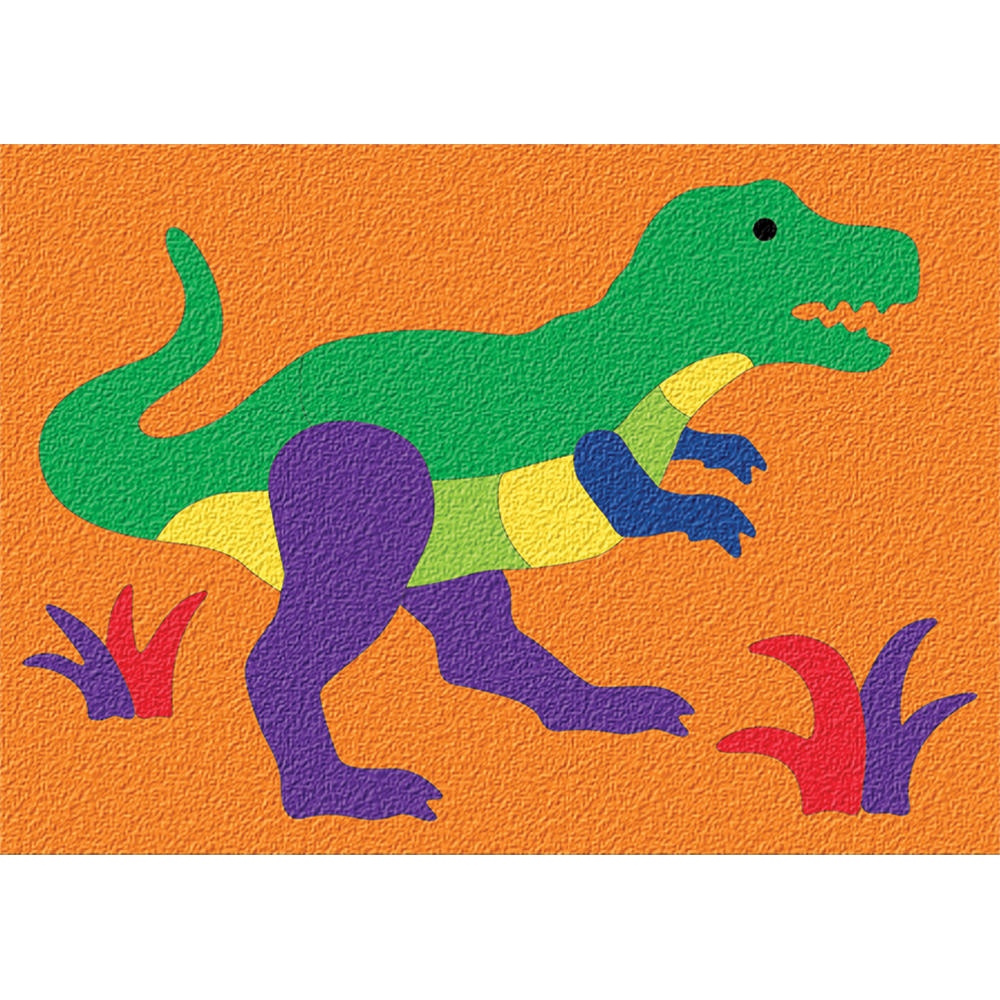 Dinosaur 14pc Rubber Puzzle