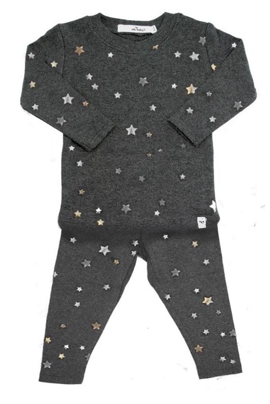 All Over Stars Shirt and Pant Set