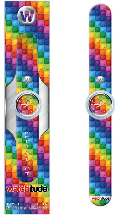 Rainbow Blocks Slap Watch