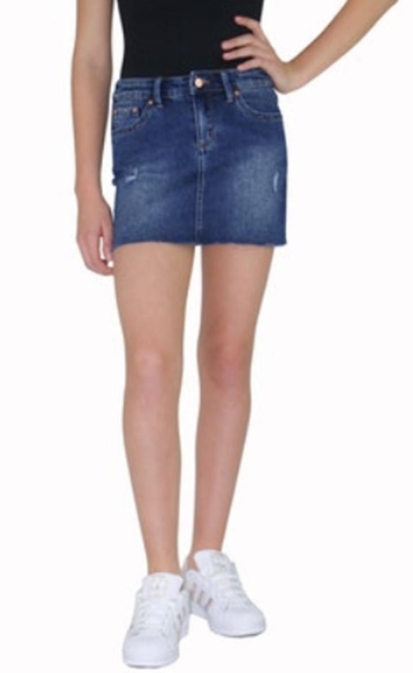 Tractr Lisa Basic Mini Skirt