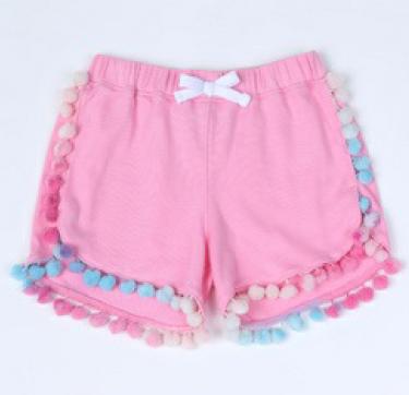 Pink Pom Pom Shorts