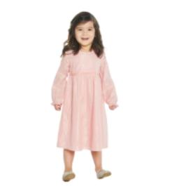 Layla Pink Metallic Stripe Dress