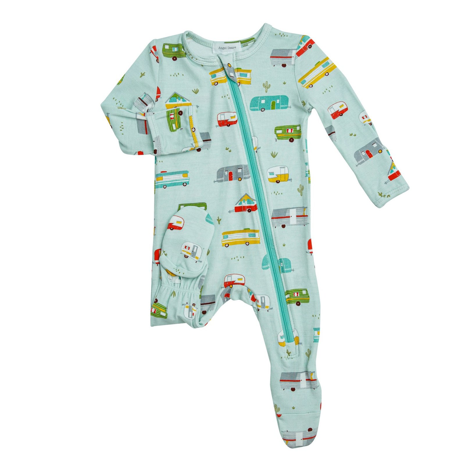 Happy Campers Zipper Footie Pajamas
