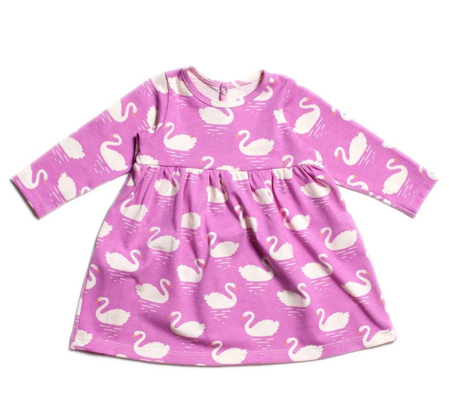 Swans Magenta Geneva Baby Dress