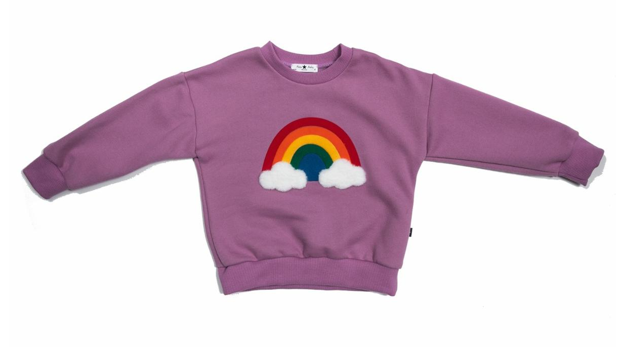 Petite Hailey Rainbow Sweatshirt