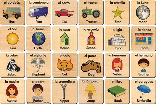 Teach + Play Spanish/English Tiles