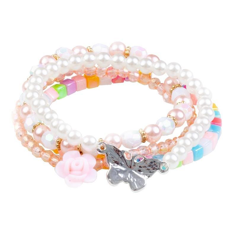Pearly Butterfly Bracelet 4pc Set