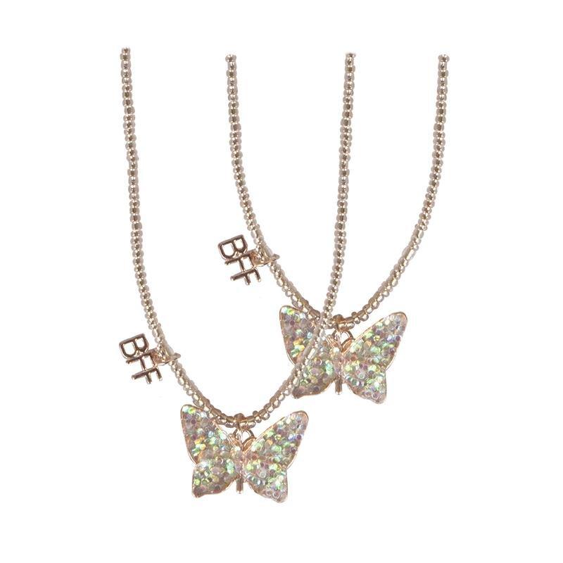 BFF Butterfly Share & Tear Necklace Set
