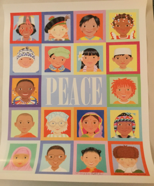 Lizzy Rockwell Signed Peace Poster