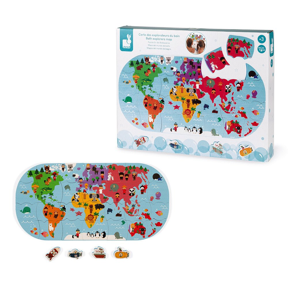 Bath Explorers 28pc Puzzle with Storage Net
