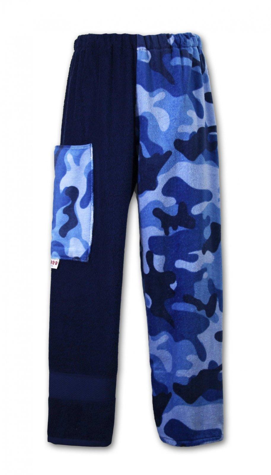 Blue Camo Dye Towel Pants