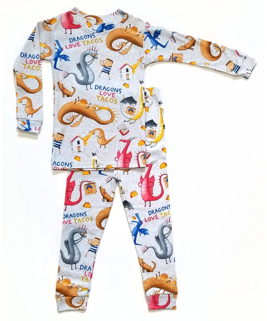 Dragons Love Tacos 2 Pajama Set