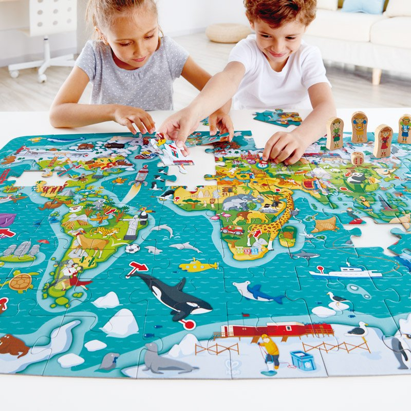 2 in 1 World 100pc Puzzle and Game