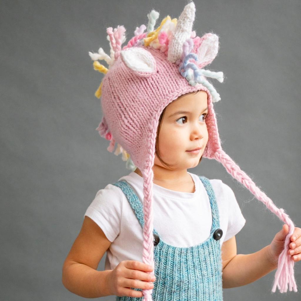 Pink Ella Unicorn Knit Hat