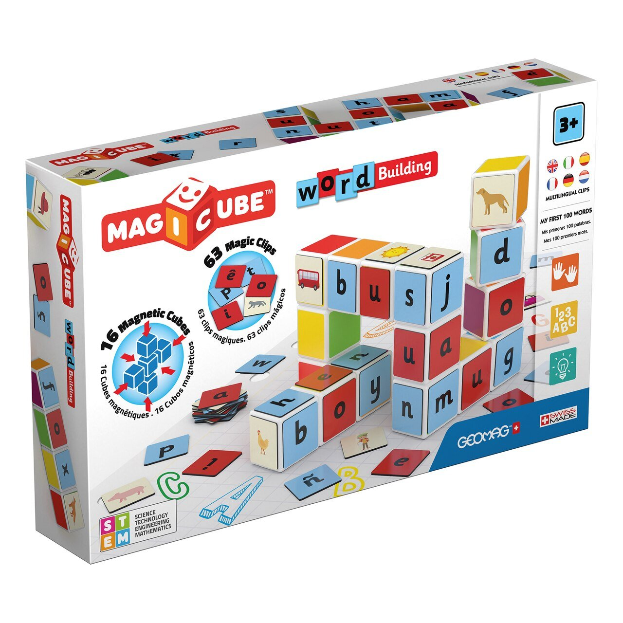 Geomag Magicubes Word Building Magnetic Set