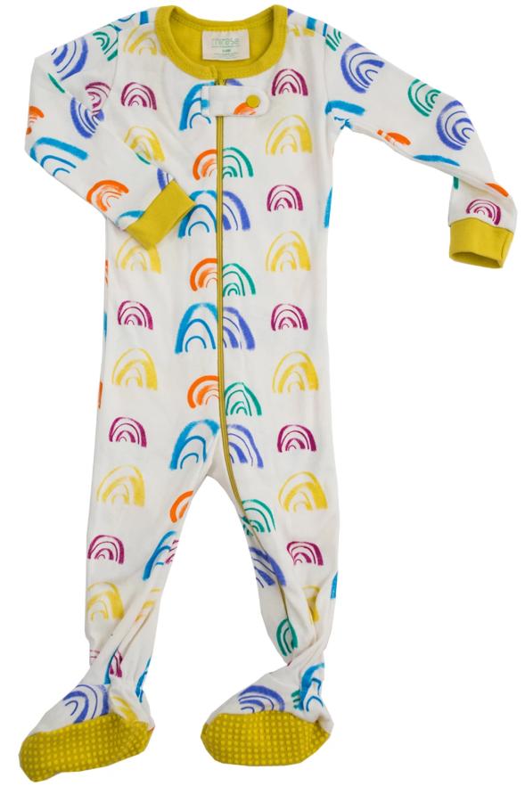 Rainbow Footie Pajamas