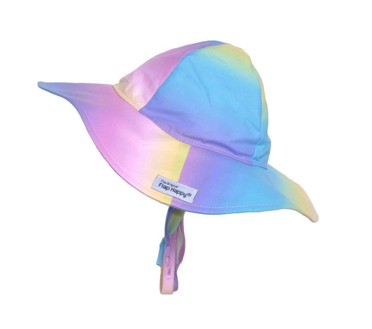 Rainbow Ombre UPF 50+ Microfiber Floppy Hat