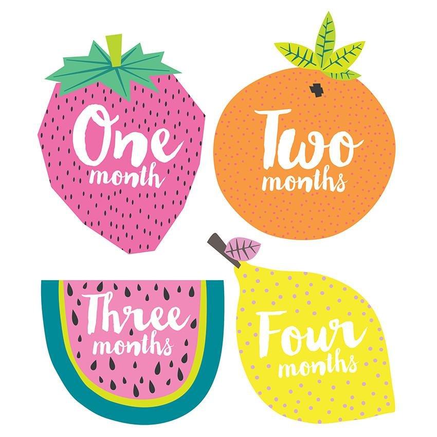 Little Tutti Frutti Baby Month Stickers