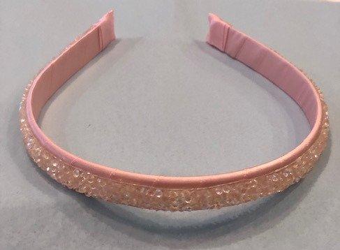 Pink Druzy Quartz Headband
