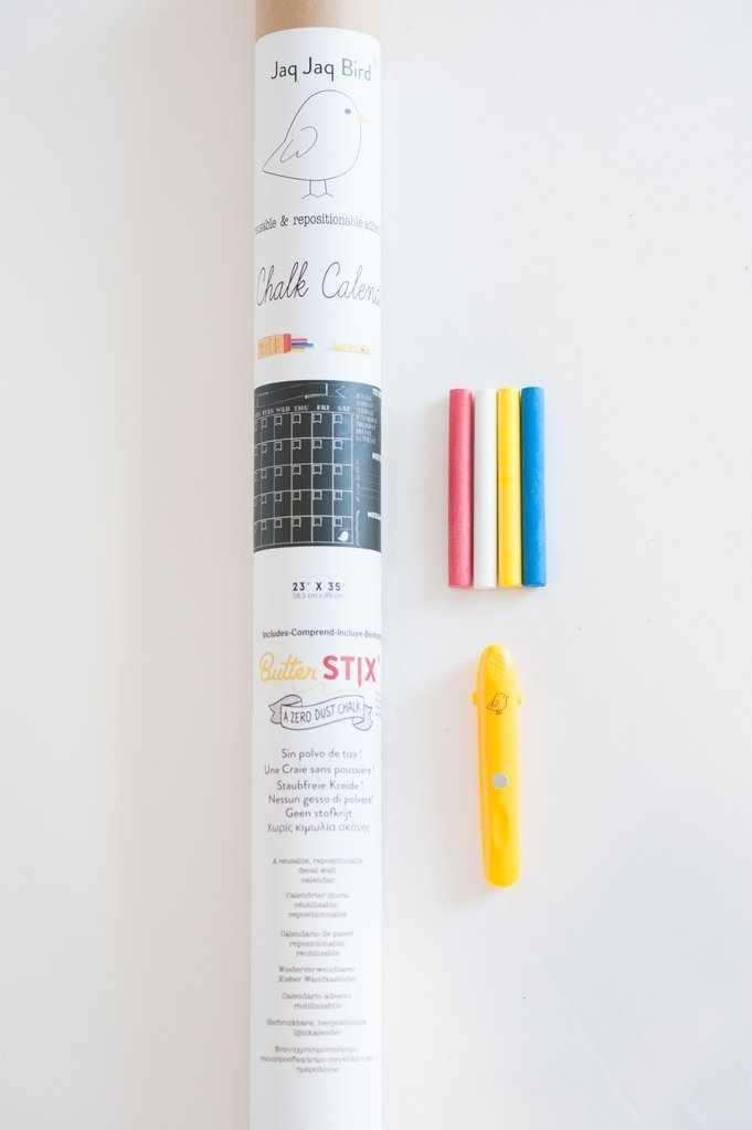ButterStix Dust Free Chalk Board Calendar, 23 X 35