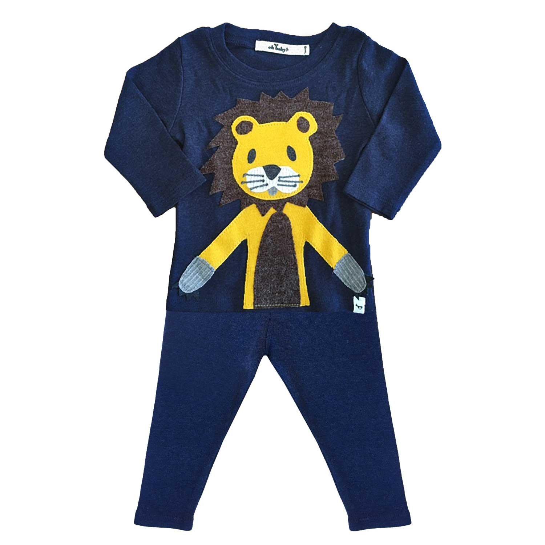 Navy Lion Shirt and Pant Set